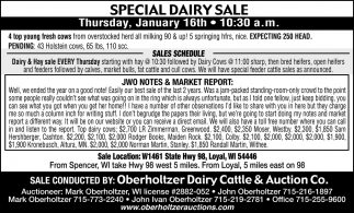 Dairy & Feeder Sale