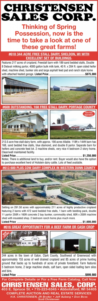 344 Acre Free Stall Dairy