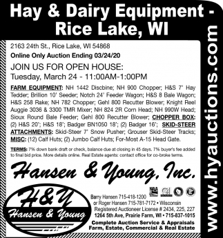 Hay & Dairy Equipment