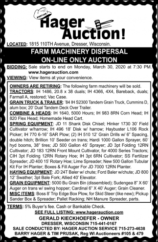 Farm Machinery Dispersal