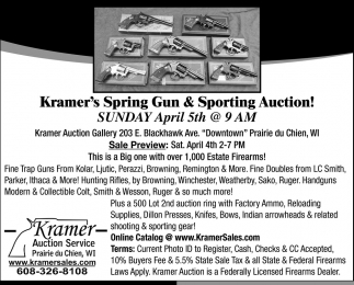 Kramer's Spring Gun & Sporting Auction
