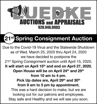 21st Spring Consignment Auction