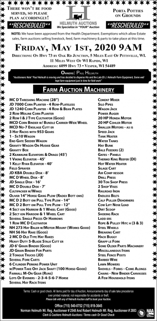 Farm Auction Machinery