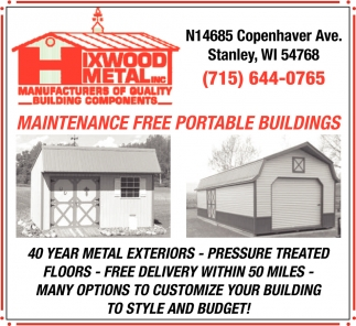 Maintenance Free Portable Buildings