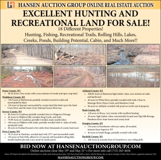 Excellent Hunting And Recreational Land For Sale