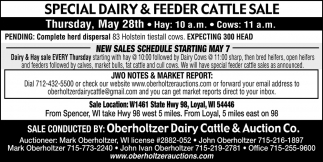 Special Dairy & Feeder Cattle Sale