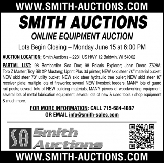 Online Equipment Auctions