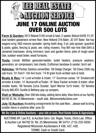 june 17 Online Auction