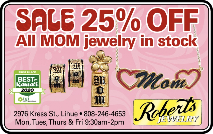 Sale 25% OFF All Mom Jewelry in Stock