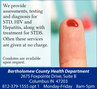 We Provide Assessments, Testing And Diagnosis For STD