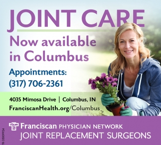 Joint Care Now Available In Columbus.