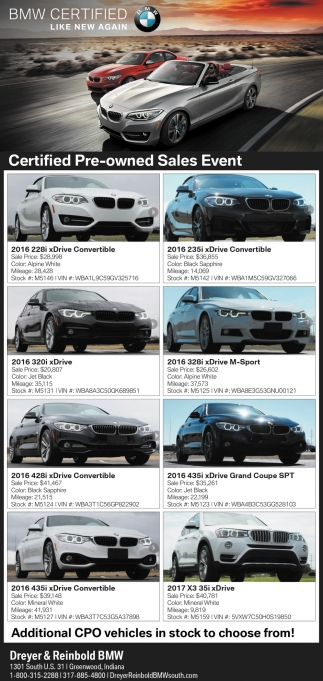 Certified Pre-Owned Sales Event