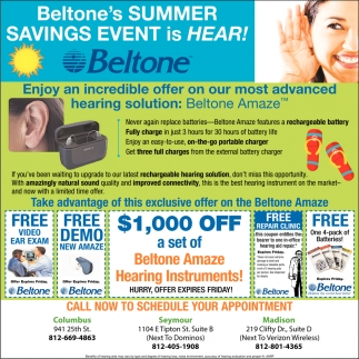 Beltone's Summer Savings Event Is Hear!