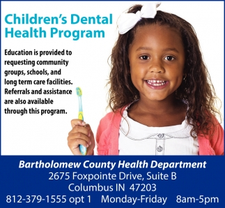 Children's Dental Health Program