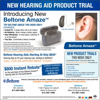 New Hearing Aid Product Trial