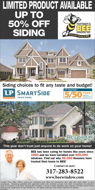 Siding Choices To Fit Any Taste And Budget!