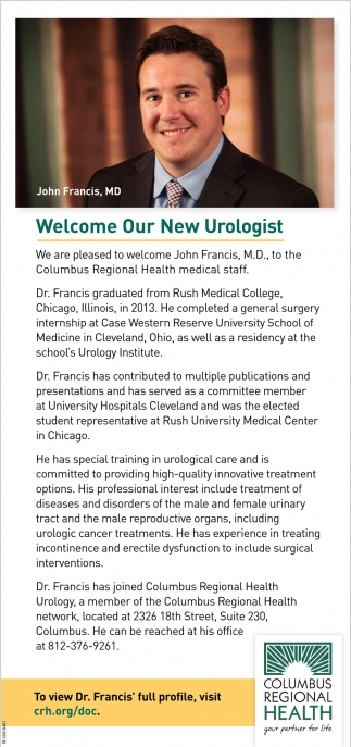 Welcome Our New Urologist