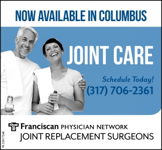 Now Available In Columbus, Joint Care.