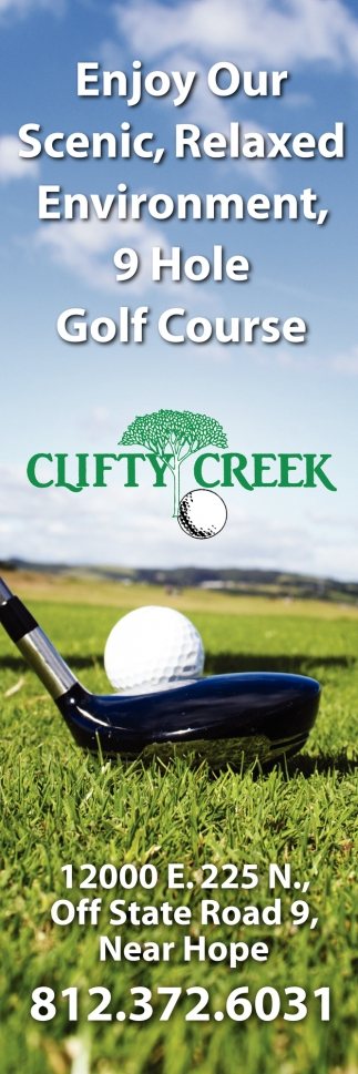 Enjoy Our Scenic, Relaxed Environment, 9 Hole Golf Course