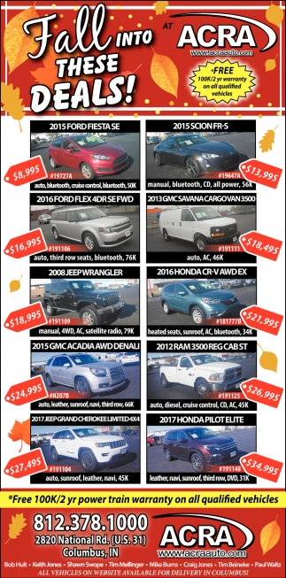 Free 100/2 Yr Power Train Warranty On All Qualified Vehicles