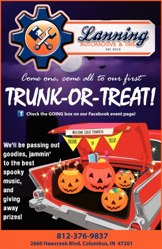 Come One, Come All To Our First Trunk-Or-Treat!
