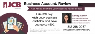 Business Account Review