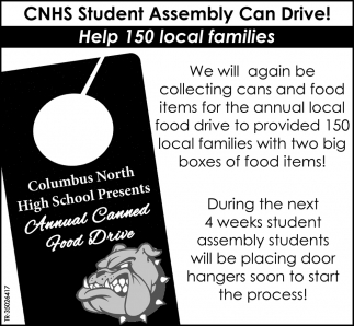 Annual Canned Food Drive