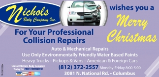 For Your Professional Collision Repairs