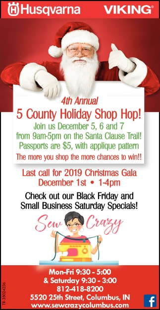 4th Annual 5 County Holiday Shop Hop!