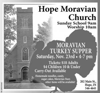 Moravian Turkey Supper