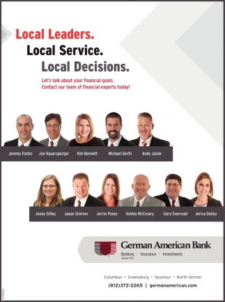 Local Leaders. Local Service. Local Decisions.