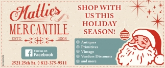 Shop With Us This Holiday Season!