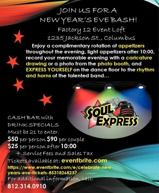 Join Us For A New Year's Eve Bash!