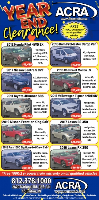 Year End Clearance!