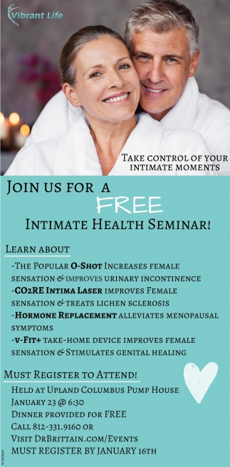 Join Us For A Free Intimate Health Seminar!