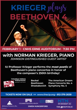 Krieger Plays Beethoven 4