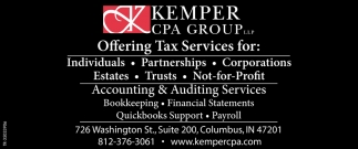 Offering Tax Services