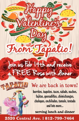 Happy Valentine's Day From Tapatio!