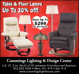 Table & Floor Lamps Up To 30% Off