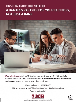 A Banking Partner For Your Business, Not Just A Bank
