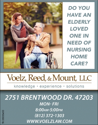 Do You Have An Elderly Loved One In Need Of Nursing Home Care?
