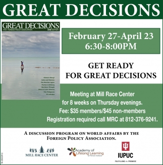 Get Ready For Great Decisions