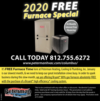 2020 Free Furnace Special
