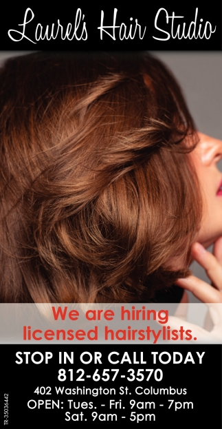 We Are Hiring Licensed Hairstylists.