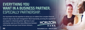 Everything You Want In A Business Partner. Especially Partnership.