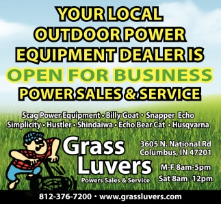 Your Local Outdoor Power Equipment Dealer