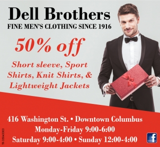 Fine Men's Clothing Since 1916
