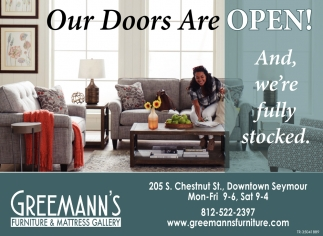 Our Doors Are Open!