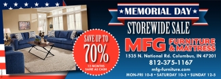 Memorial Day Storewide Sale