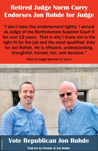 Retired Judge Norm Curry Endorses Jon Rohde For Judge